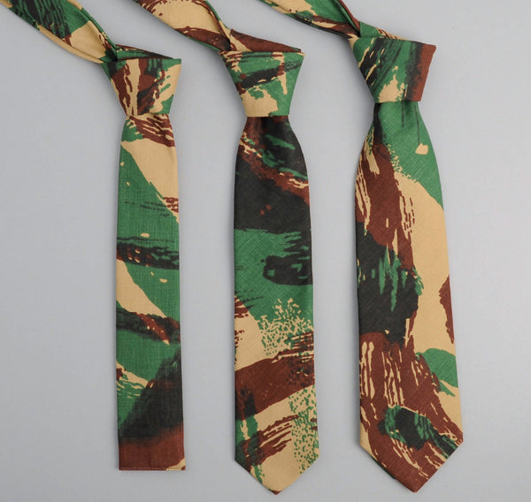 "The Hill-Side French ""Lizard"" Camo Necktie"