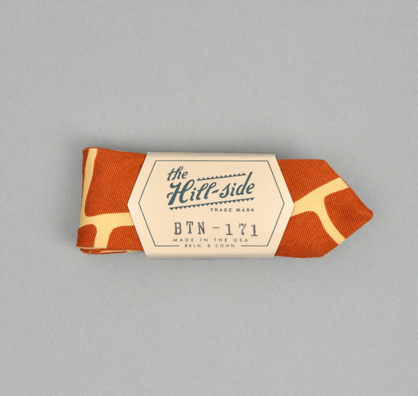 The Hill-Side - Giraffe Print Bow Tie, Brick Red - BTN-171 - image 1