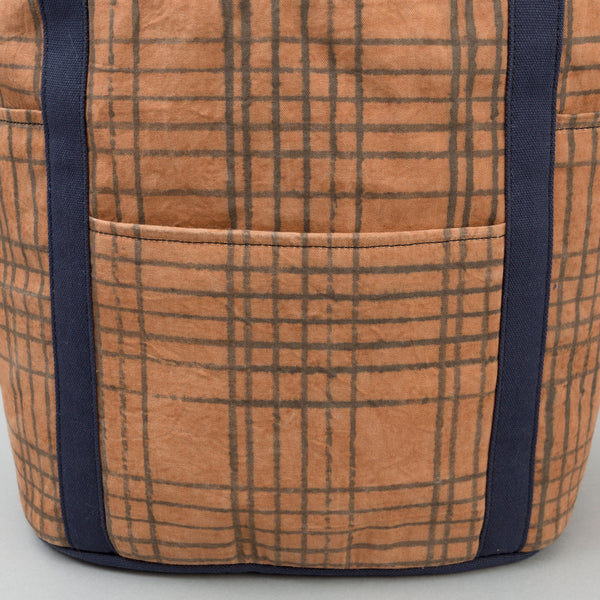 The Hill-Side - Heavy Duty Tote Bag, Kakishibu Hand-Drawn Check - TB2-320 - image 2