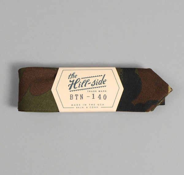 The Hill-Side Hungarian Camouflage Print Bow Tie, Olive / Brown