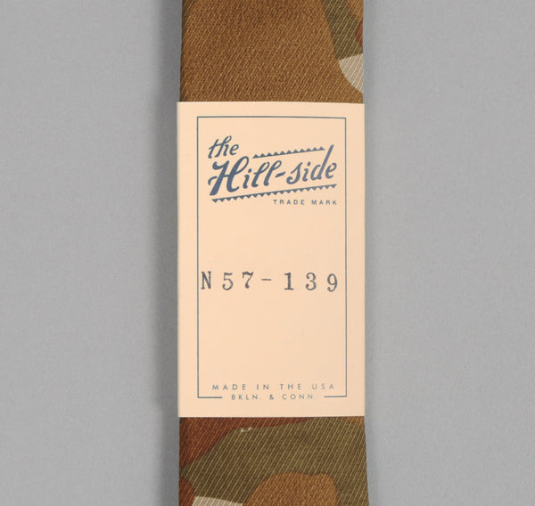 The Hill-Side Hungarian Camouflage Print Tie, Brown / Tan