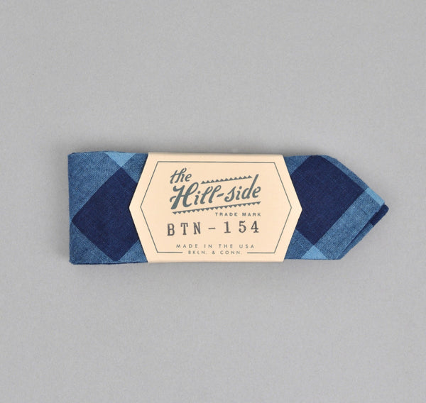 The Hill-Side - INDIGO LARGE GINGHAM BOW TIE - BTN-154 - image 1