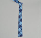 The Hill-Side - INDIGO LARGE GINGHAM TIE - N57-154 - image 1