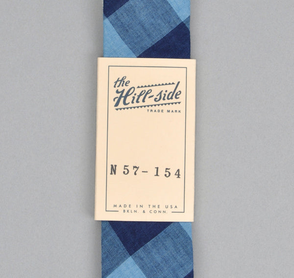 The Hill-Side - INDIGO LARGE GINGHAM TIE - N57-154 - image 2
