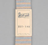 The Hill-Side - INDIGO/PASTEL STRIPE POINTED TIE - PS5-PS57-103
