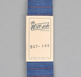 The Hill-Side - INDIGO/RED STRIPE TIE - S57-102