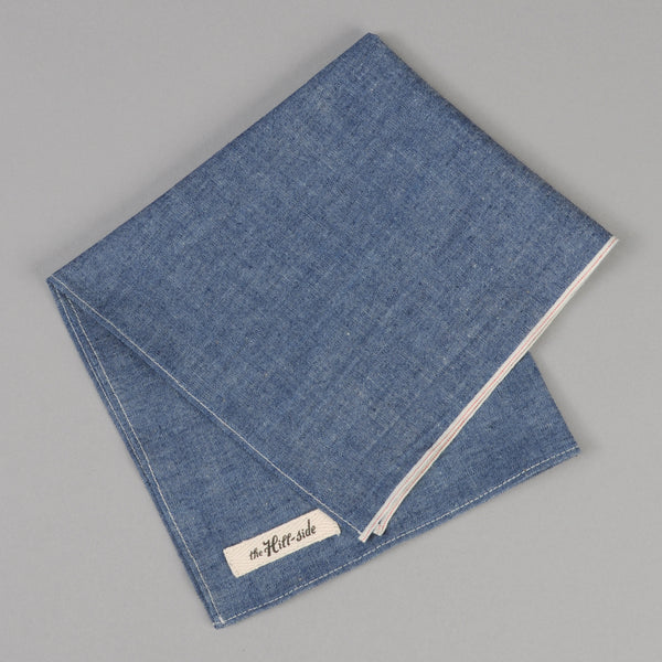 The Hill-Side - Indigo Chambray Pocket Square - PS1-001 - image 1