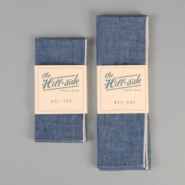 The Hill-Side - Indigo Chambray Pocket Square - PS1-001 - image 2