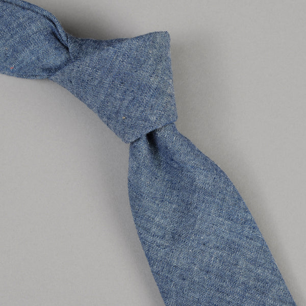 The Hill-Side Indigo Chambray Tie