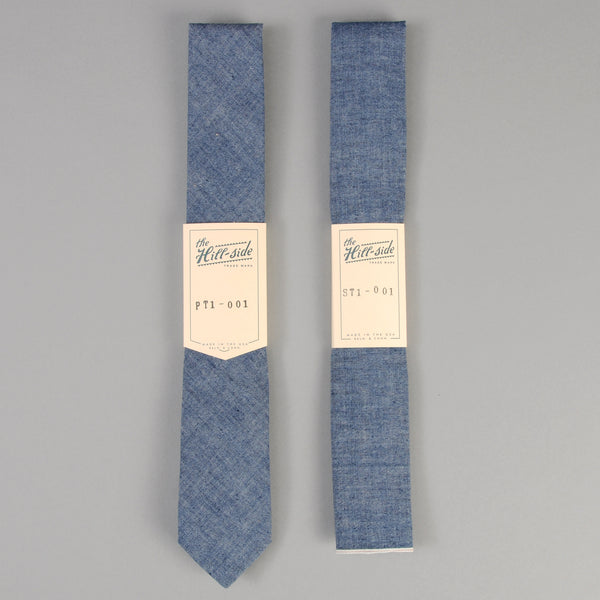 The Hill-Side - Indigo Chambray Tie - ST1-001