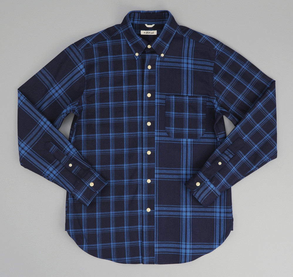 The Hill-Side - Indigo Check Oxford Button-Down Shirt - SH1-254 - image 1