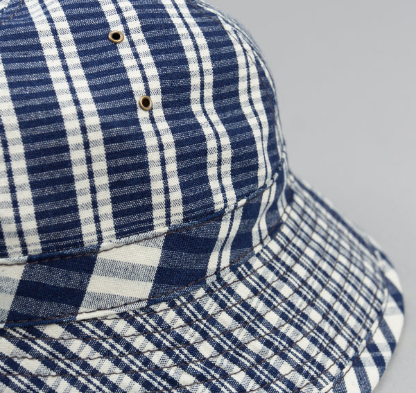 The Hill-Side - Indigo Check Oxford Daisy Mae Hat - HA5-321 - image 2