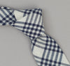 The Hill-Side - Indigo Madras 5x5 Plaid Necktie, Natural / Indigo - PT1-335 - image 1