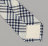 The Hill-Side - Indigo Madras 5x5 Plaid Necktie, Natural / Indigo - PT1-335 - image 3