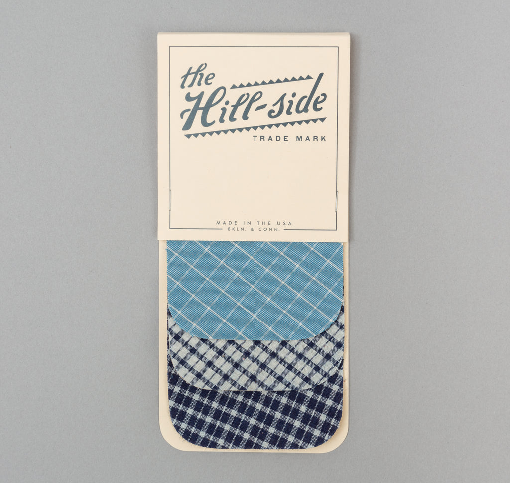 The Hill-Side - Indigo Madras Iron-On Patches - PA1-10 - image 1