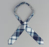 The Hill-Side - Indigo Madras Large Check Bow Tie, Natural Base - BT1-333 - image 3