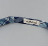 The Hill-Side - Indigo Madras Large Check Bow Tie, Natural Base - BT1-333 - image 4