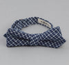The Hill-Side - Indigo Madras Small Check Bow Tie, Indigo Base - BT1-337 - image 1