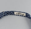 The Hill-Side - Indigo Madras Small Check Bow Tie, Indigo Base - BT1-337 - image 4