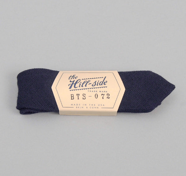 The Hill-Side - Indigo Panama Cloth Bow Tie - BT1-072 - image 2