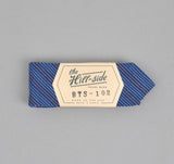 The Hill-Side - Indigo / Red Fine Stripe Bow Tie - BTS-102 - image 1