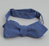 The Hill-Side Indigo / Red Fine Stripe Bow Tie