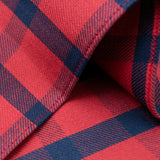 The Hill-Side - Indigo/Red Windowpane Pocket Square - PS1-379 - image 3