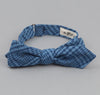 The Hill-Side - Indigo Seersucker Check Bow Tie - BT1-332 - image 1