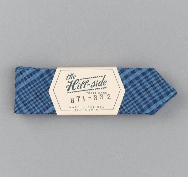 The Hill-Side - Indigo Seersucker Check Bow Tie - BT1-332 - image 2