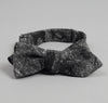 The Hill-Side - Jacquard Woven Fuzzy Nordic Camouflage Bow Tie, Black - BTN-141 - image 2