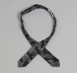 The Hill-Side - Jacquard Woven Fuzzy Nordic Camouflage Bow Tie, Black - BTN-141 - image 3