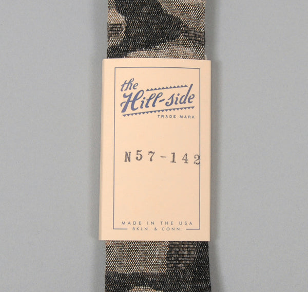 The Hill-Side - Jacquard Woven Fuzzy Nordic Camouflage Tie, Grey - N57-142 - image 2