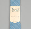 The Hill-Side LIGHT BLUE GRID POINTED TIE