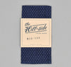 The Hill-Side - LINEN INDIGO DISCHARGE PRINT POCKET SQUARE, PINDOT - N13-155 - image 1