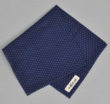 The Hill-Side - LINEN INDIGO DISCHARGE PRINT POCKET SQUARE, PINDOT - N13-155 - image 2