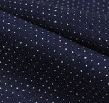 The Hill-Side - LINEN INDIGO DISCHARGE PRINT POCKET SQUARE, PINDOT - N13-155 - image 3