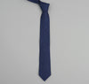 The Hill-Side - LINEN INDIGO DISCHARGE PRINT POINTED TIE, PINDOT - PN57-155