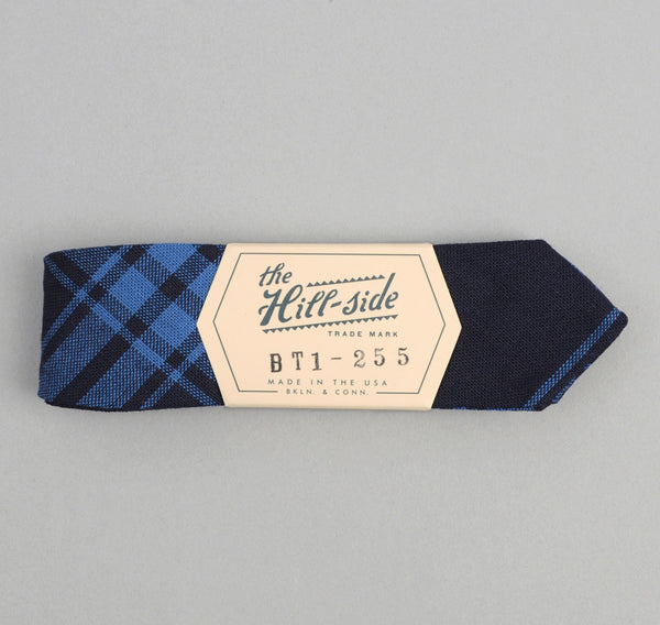 The Hill-Side Large Check Oxford Bow Tie, Indigo