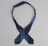 The Hill-Side - Large Check Oxford Bow Tie, Indigo - BT1-255 - image 3