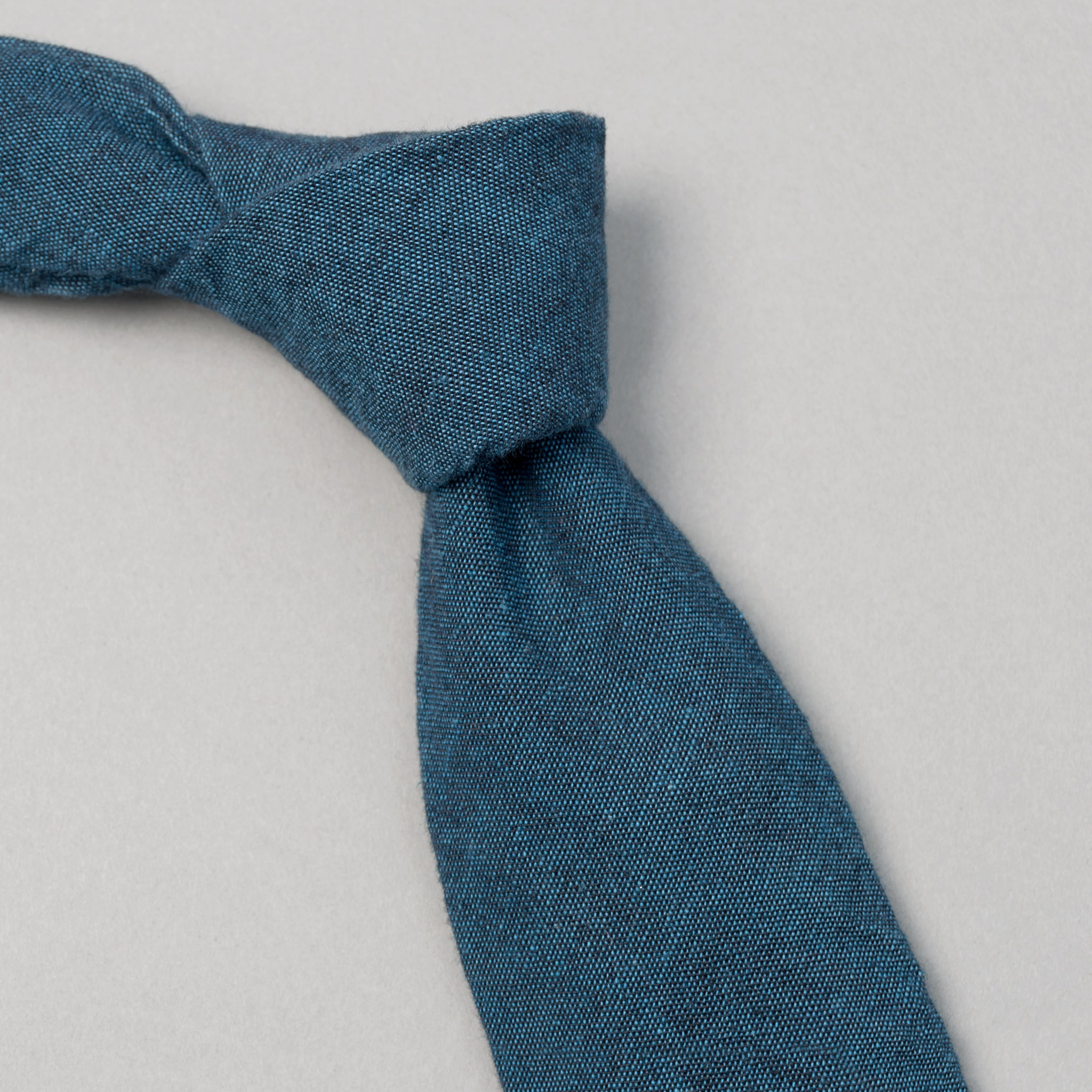The Hill-Side - Light Indigo Overdyed Chambray Tie, Limited Edition - PT1-002IL - image 1