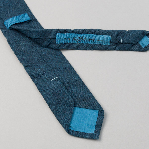 The Hill-Side - Light Indigo Overdyed Chambray Tie, Limited Edition - PT1-002IL - image 2
