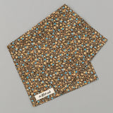 The Hill-Side - Lightweight All-Over Floral Print Pocket Square, Brown - PS1-482