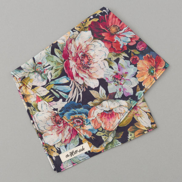 The Hill-Side - Lightweight Big Flowers Print Pocket Square, Multicolor - PS1-494 - image 1