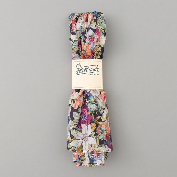 The Hill-Side - Lightweight Big Flowers Print Scarf, Multicolor - SC1-494 - image 2