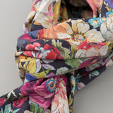 The Hill-Side - Lightweight Big Flowers Print Scarf, Multicolor - SC1-494 - image 3