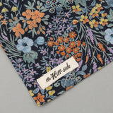 The Hill-Side - Lightweight Wildflowers Print Pocket Square, Navy - PS1-491 - image 3