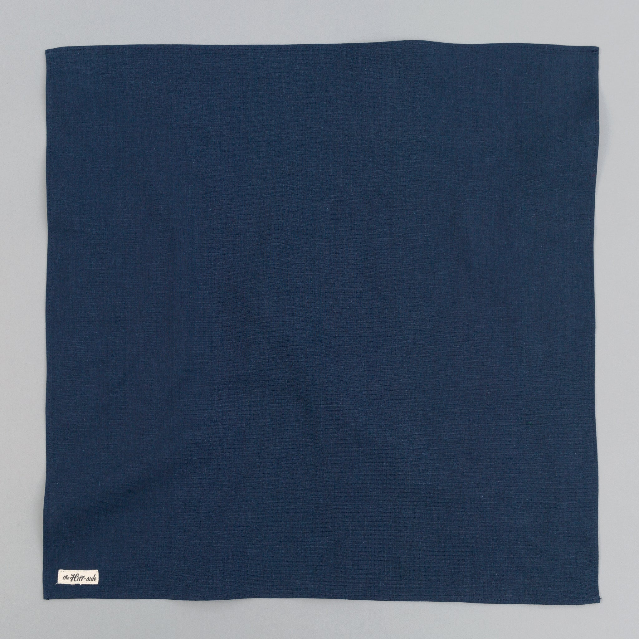 The Hill-Side - Linen / Cotton Oxford Bandana, Navy - BA1-418 - image 1