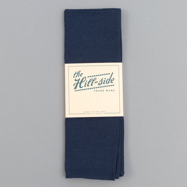 The Hill-Side - Linen / Cotton Oxford Bandana, Navy - BA1-418 - image 2