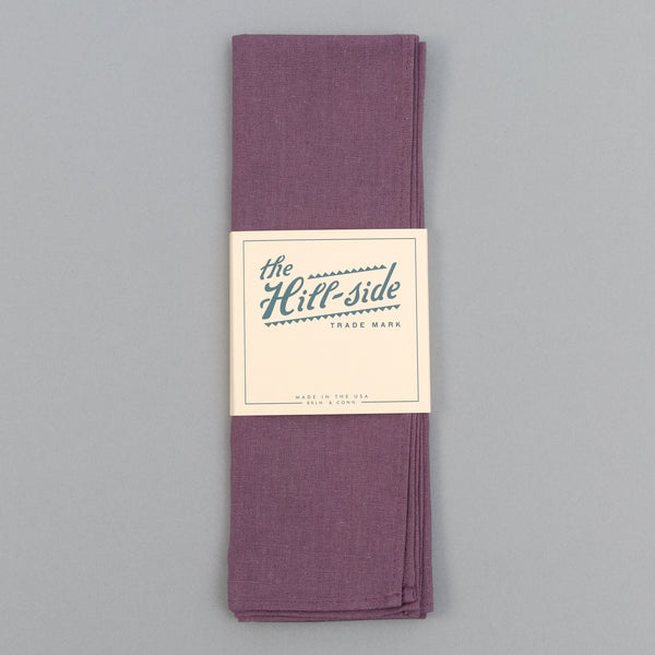 The Hill-Side - Linen / Cotton Oxford Bandana, Purple - BA1-419 - image 2