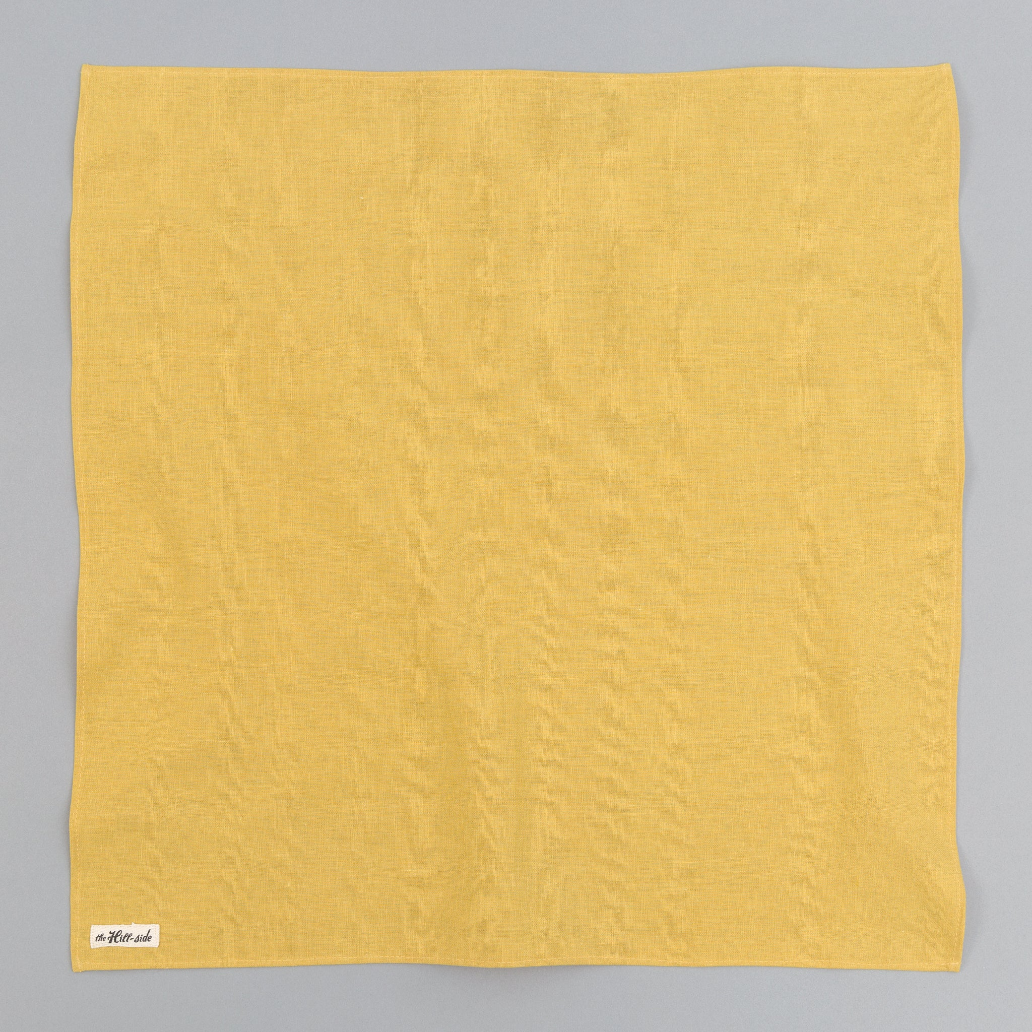 The Hill-Side Linen / Cotton Oxford Bandana, Yellow